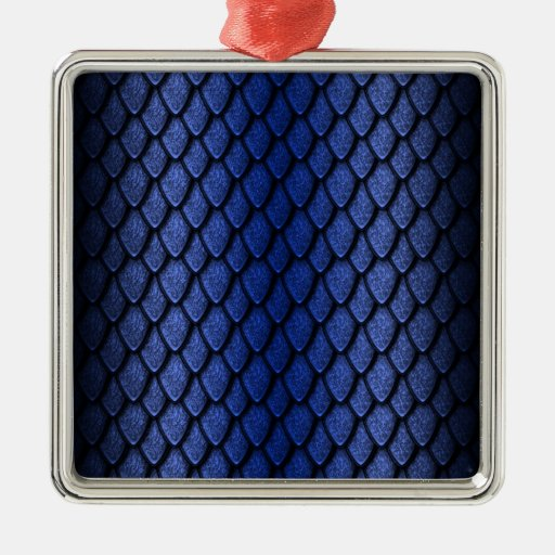 Blue Dragon Scales Christmas Ornaments