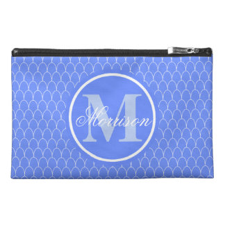 Blue Dragon Scales Monogrammed Travel Accessory Bag