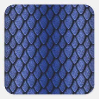Blue Dragon Scales Square Sticker