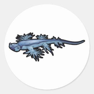 Blue Dragon Sea Slug Nudibranch Classic Round Sticker