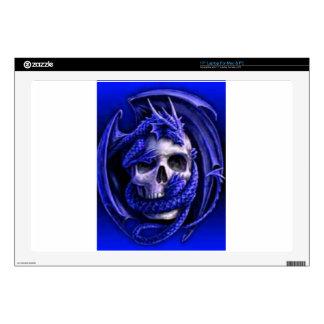 "blue-dragon-skull decal for 17"" laptop"