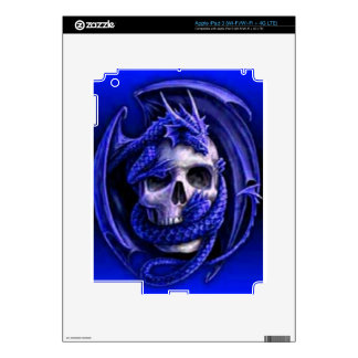blue-dragon-skull decal for iPad 3