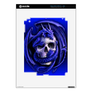 blue-dragon-skull iPad 2 skins