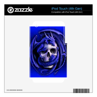 blue-dragon-skull decal for iPod touch 4G
