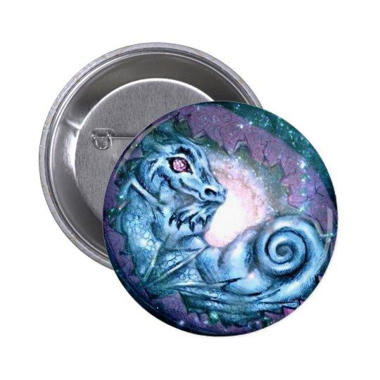 Blue Dragon Star Pinback Button