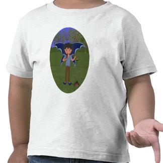 Blue Dragon Winged Musical Boy Faerie Shirts