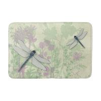 Blue Dragonflies Bath Mat
