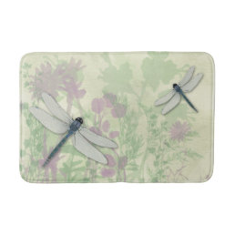 Blue Dragonflies Bath Mat