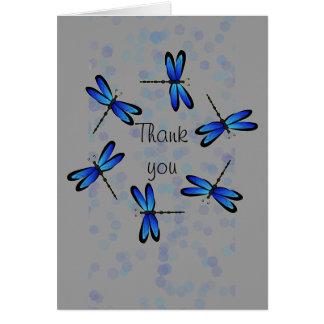 blue dragonflies II Card