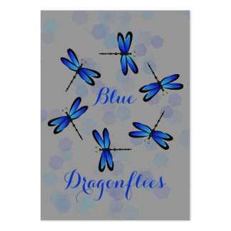 blue dragonflies II Large Business Card