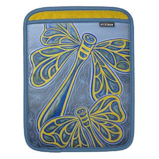 Blue Dragonflies iPad Sleeve