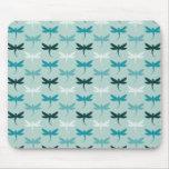 Blue Dragonflies Mouse Pad