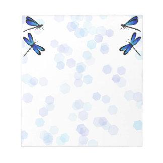 blue dragonflies scratch pad