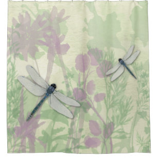 Blue Dragonflies Shower Curtain