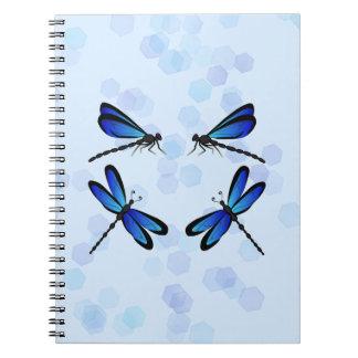 blue dragonflies spiral notebook