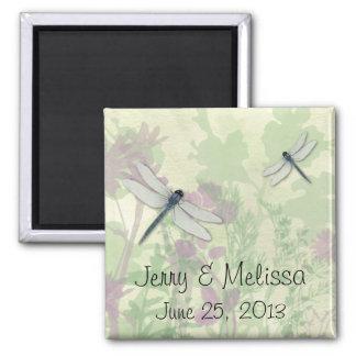 Blue Dragonflies Wedding Favor Magnet