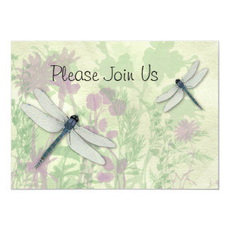 Blue Dragonflies Wedding Invitation
