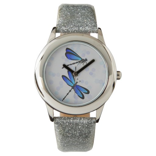 blue dragonflies wristwatches
