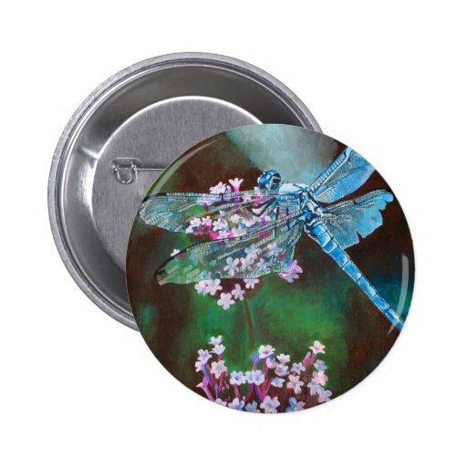Blue Dragonfly 2 Inch Round Button