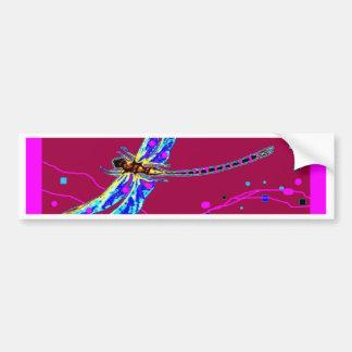Blue Dragonfly Amethyst Purple Gifts by Sharles Bumper Sticker