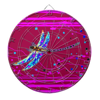 Blue Dragonfly Amethyst Purple Gifts by Sharles Dart Boards