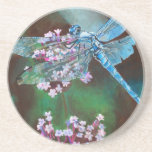 Blue Dragonfly Beverage Coasters