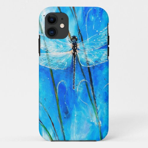 Blue Dragonfly Phone Case