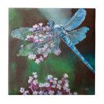 Blue Dragonfly Ceramic Tiles
