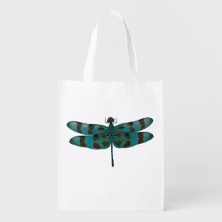 Blue Dragonfly Grocery Bag