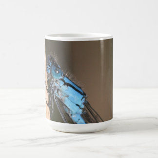Blue Dragonfly in Close-up Mug