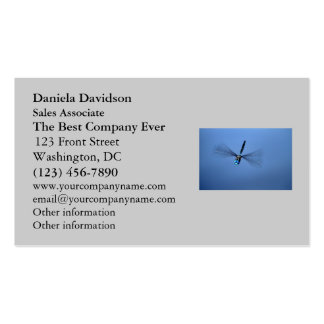 Blue Dragonfly in Flight Business Card