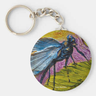 Blue Dragonfly Keychain