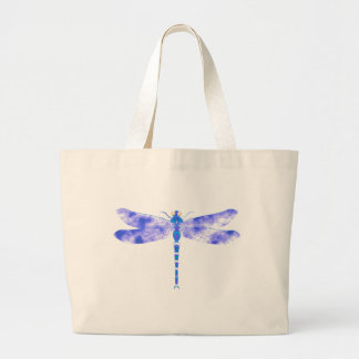 Blue Dragonfly Large Tote Bag