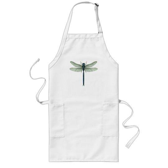 Blue Dragonfly Long Apron