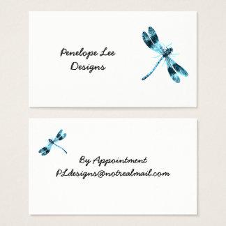 Blue Dragonfly Minimalist Classy Business Card