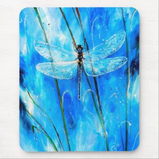 Blue Dragonfly Mouse Pad