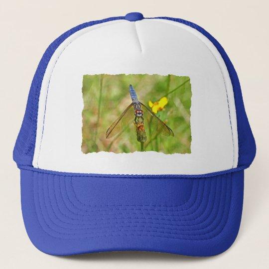 Blue Dragonfly Photo Trucker Hat