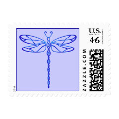 Blue Dragonfly Postage Stamp