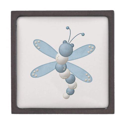 Blue Dragonfly Premium Trinket Box