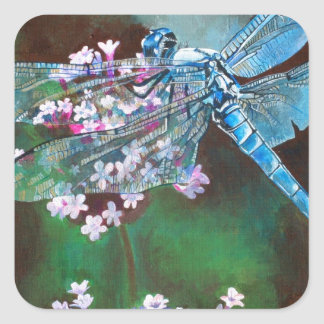 Blue Dragonfly Stickers