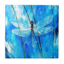 Blue Dragonfly Tile