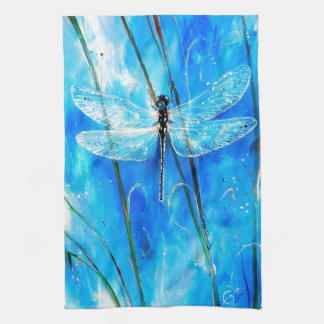 Blue Dragonfly Towel