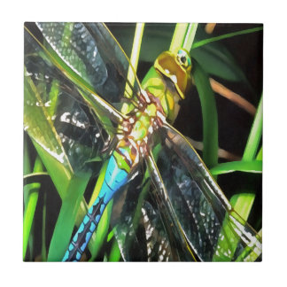 Blue Dragonfly Wings Tile