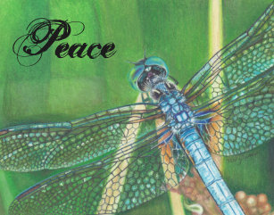 Green Dragonflies Wood Wall Art Zazzle