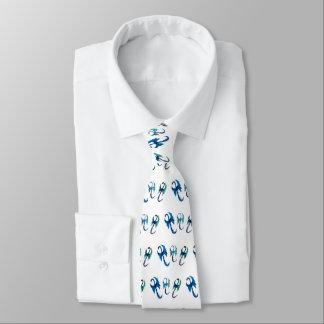 Blue Dragons Fantasy Animal Art Tie