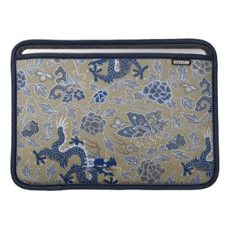 Blue Dragons, Flowers, and Butterflies MacBook Air Sleeve