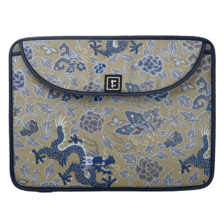 Blue Dragons, Flowers, and Butterflies Sleeve For MacBook Pro