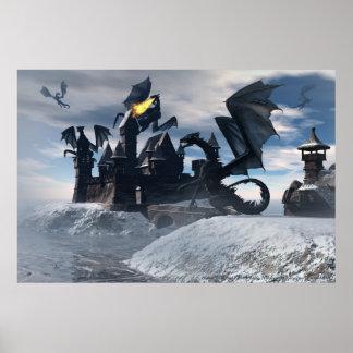 Blue Dragons Poster By Michelle Wilder