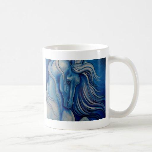Blue Drama Horse Coffee Mug