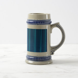 Blue drapes beer stein